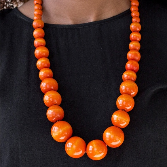 Effortlessly Everglades orange Paparazzi necklace